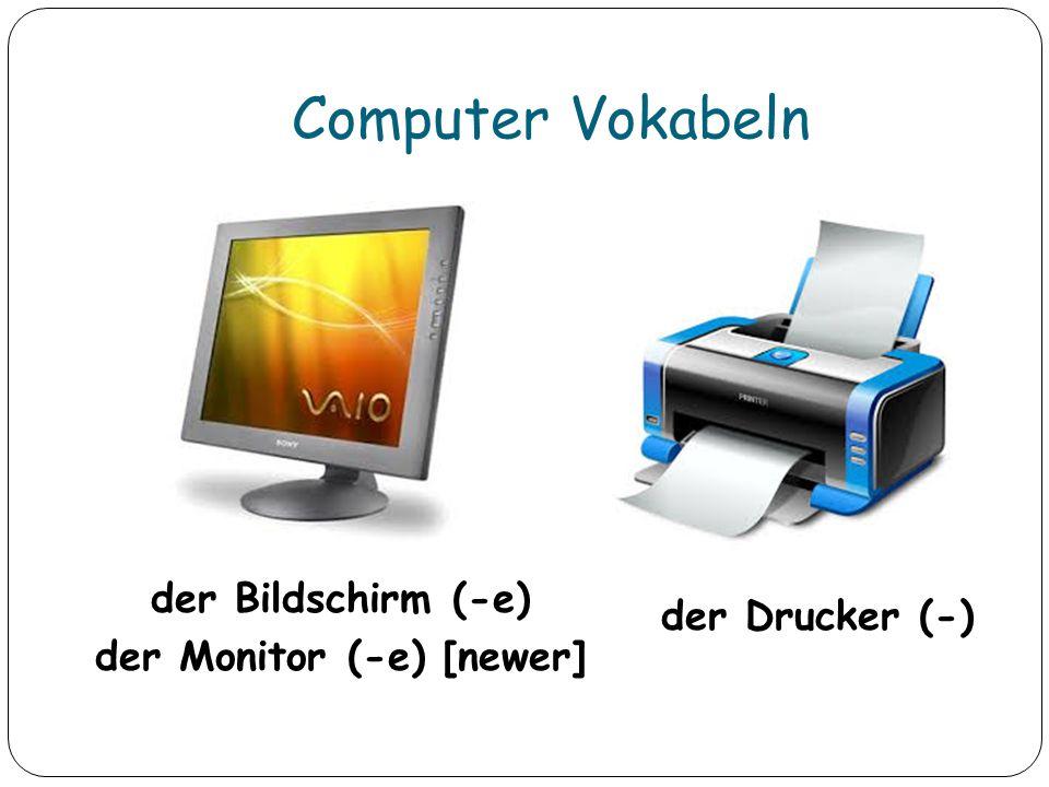 der Bildschirm (-e) der Monitor (-e) [newer]